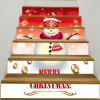 Snowman Printed Removable Decorative Stair Stickers - COLORFUL