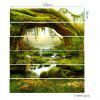 Tree Hole Stream Scenery Printed Stair Stickers - GREEN