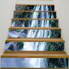 Mountain Waterfall impressa 6Pcs Stair Stickers - TURQUESA