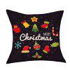 Christmas Cartoon Series Print Decorative Linen Sofa Pillowcase - COLORMIX