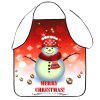 Merry Christmas Snowman Print Cooking Apron - COLORMIX