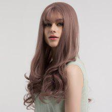 Long See-through Bang Curly Synthetic Wig