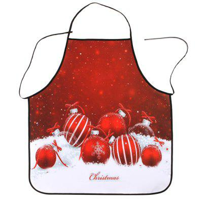 Christmas Balls Printed Waterproof Polyester Kitchen Apron