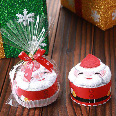 Christmas Decorations Santa Snowman Tree Cupcake Towel