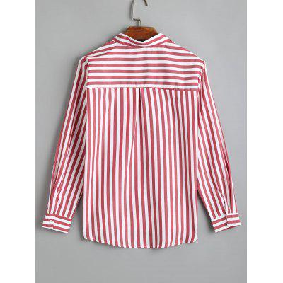 Longline Striped Button Up ShirtBlouses<br>Longline Striped Button Up Shirt<br><br>Collar: Shirt Collar<br>Material: Polyester<br>Occasion: Casual<br>Package Contents: 1 x Shirt<br>Pattern Type: Striped<br>Shirt Length: Long<br>Sleeve Length: Full<br>Style: Casual<br>Weight: 0.2300kg