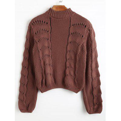 Loose Knit High Neck Sweater