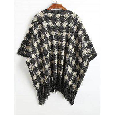 Tassels Geometric Graphic Open CardiganSweaters &amp; Cardigans<br>Tassels Geometric Graphic Open Cardigan<br><br>Collar: Collarless<br>Material: Acrylic, Polyester<br>Package Contents: 1 x Cardigan<br>Pattern Type: Geometric<br>Sleeve Length: Half<br>Style: Casual<br>Type: Cardigans<br>Weight: 0.6500kg