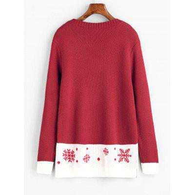 Christmas Snowflakes Contrasting SweaterSweaters &amp; Cardigans<br>Christmas Snowflakes Contrasting Sweater<br><br>Collar: Round Collar<br>Material: Acrylic, Cotton, Polyester<br>Package Contents: 1 x Sweater<br>Pattern Type: Others<br>Sleeve Length: Full<br>Style: Fashion<br>Type: Pullovers<br>Weight: 0.5000kg