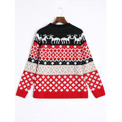 Christmas Elk Geometric Pullover SweaterSweaters &amp; Cardigans<br>Christmas Elk Geometric Pullover Sweater<br><br>Collar: Round Collar<br>Material: Acrylic, Cotton, Polyester<br>Package Contents: 1 x Sweater<br>Pattern Type: Others<br>Sleeve Length: Full<br>Style: Fashion<br>Type: Pullovers<br>Weight: 0.4700kg