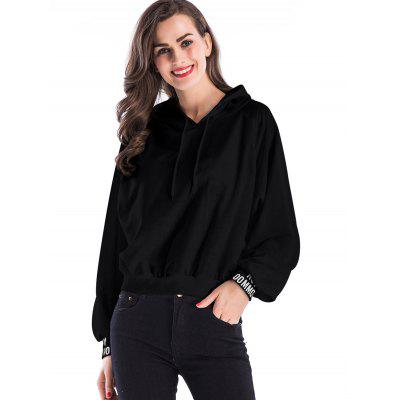 Letter Color Block Short HoodieSweatshirts &amp; Hoodies<br>Letter Color Block Short Hoodie<br><br>Material: Polyester, Spandex<br>Package Contents: 1 x Hoodie<br>Pattern Style: Letter<br>Season: Fall, Spring<br>Shirt Length: Short<br>Sleeve Length: Full<br>Style: Fashion<br>Weight: 0.3900kg