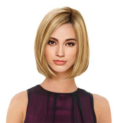 Short Side Parting Colormix Straight Bob Synthetic Wig