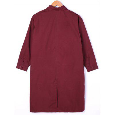 Drop Pockets Longline Shift ShirtBlouses<br>Drop Pockets Longline Shift Shirt<br><br>Collar: Shirt Collar<br>Embellishment: Pockets<br>Material: Polyester<br>Occasion: Casual<br>Package Contents: 1 x Shirt<br>Pattern Type: Solid<br>Season: Fall, Spring<br>Shirt Length: X-Long<br>Sleeve Length: Three Quarter<br>Style: Casual<br>Weight: 0.2300kg