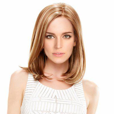 Medium Side Parting Colormix Straight Bob Synthetic Wig