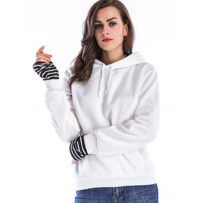 Striped Patchwork Kangaroo Pocket HoodieSweatshirts &amp; Hoodies<br>Striped Patchwork Kangaroo Pocket Hoodie<br><br>Material: Polyester<br>Package Contents: 1 x Hoodie<br>Pattern Style: Striped<br>Season: Fall, Spring<br>Shirt Length: Regular<br>Sleeve Length: Full<br>Style: Fashion<br>Weight: 0.4800kg