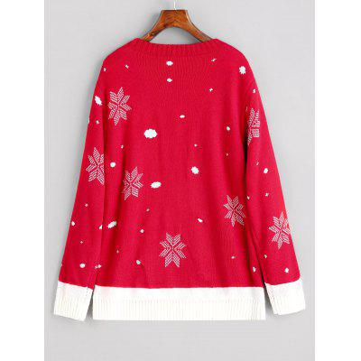 Christmas Elk Snowfakes Pullover SweaterSweaters &amp; Cardigans<br>Christmas Elk Snowfakes Pullover Sweater<br><br>Collar: Round Collar<br>Material: Acrylic, Cotton, Polyester<br>Package Contents: 1 x Sweater<br>Pattern Type: Others<br>Sleeve Length: Full<br>Style: Fashion<br>Type: Pullovers<br>Weight: 0.6000kg