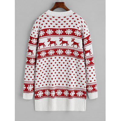 Christmas Elk Snowfakes Heart SweaterSweaters &amp; Cardigans<br>Christmas Elk Snowfakes Heart Sweater<br><br>Collar: Round Collar<br>Material: Acrylic, Cotton, Polyester<br>Package Contents: 1 x Sweater<br>Pattern Type: Others<br>Sleeve Length: Full<br>Style: Fashion<br>Type: Pullovers<br>Weight: 0.7700kg