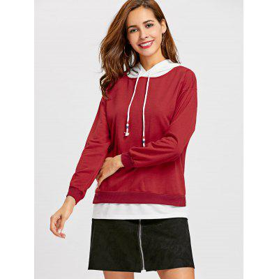 Two Tone Panel Drawstring HoodieSweatshirts &amp; Hoodies<br>Two Tone Panel Drawstring Hoodie<br><br>Clothing Style: Hoodie<br>Material: Cotton, Polyester<br>Package Contents: 1 x Hoodie<br>Pattern Style: Patchwork<br>Shirt Length: Regular<br>Sleeve Length: Full<br>Weight: 0.4200kg