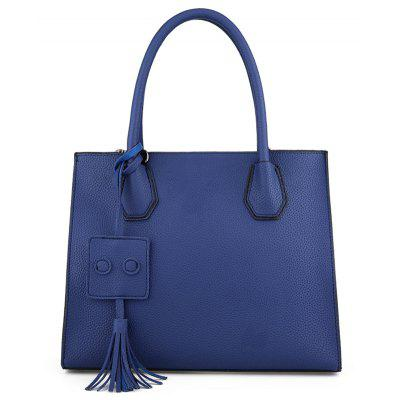 Tassel Faux Leather Handbag With Strap