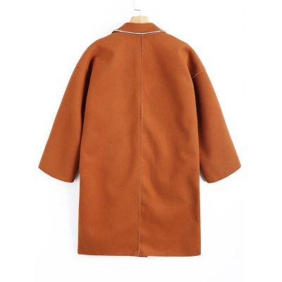 Longline Pockets Wool Blend CoatJackets &amp; Coats<br>Longline Pockets Wool Blend Coat<br><br>Clothes Type: Wool &amp; Blends<br>Collar: Lapel<br>Embellishment: Pockets<br>Material: Polyester<br>Package Contents: 1 x Coat<br>Pattern Type: Solid<br>Shirt Length: Long<br>Sleeve Length: Full<br>Style: Casual<br>Type: Wide-waisted<br>Weight: 0.9300kg