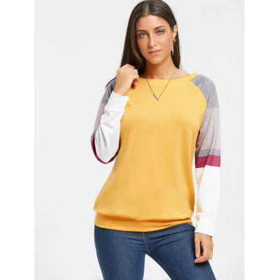 Color Block Raglan Long Sleeve TopBlouses<br>Color Block Raglan Long Sleeve Top<br><br>Collar: Scoop Neck<br>Material: Polyester, Spandex<br>Package Contents: 1 x Top<br>Pattern Type: Others<br>Season: Fall, Spring<br>Shirt Length: Regular<br>Sleeve Length: Full<br>Sleeve Type: Raglan Sleeve<br>Style: Casual<br>Weight: 0.3900kg