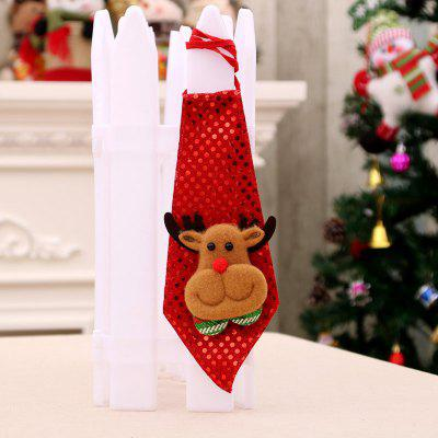 Christmas Hanging Decorations LED Lights Paillette Neck Tie
