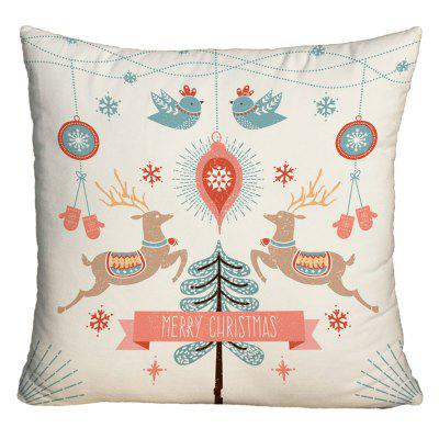 Merry Christmas Graphic Decorative Square Pillowcase