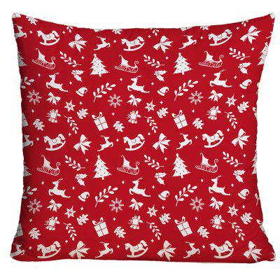 Christmas Elements Print Decorative Throw Pillow Case