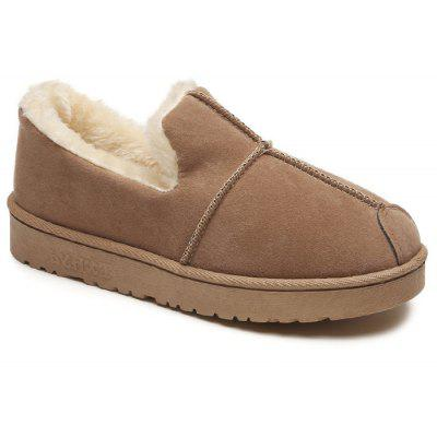 Round Toe Slip On Warm Snow Boots