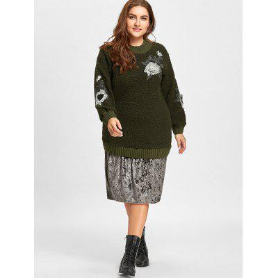 Plus Size Velvet Panel Floral Embroidered Longline SweaterPlus Size<br>Plus Size Velvet Panel Floral Embroidered Longline Sweater<br><br>Collar: High Collar<br>Material: Acrylic<br>Package Contents: 1 x Sweater<br>Pattern Type: Floral<br>Season: Winter, Fall<br>Sleeve Length: Full<br>Style: Fashion<br>Type: Pullovers<br>Weight: 0.6300kg