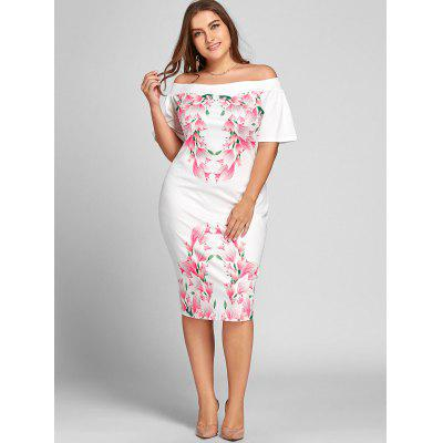 Plus Size Off The Shoulder Tulip Print DressPlus Size Dresses<br>Plus Size Off The Shoulder Tulip Print Dress<br><br>Dresses Length: Knee-Length<br>Material: Polyester<br>Neckline: Off The Shoulder<br>Package Contents: 1 x Dress<br>Pattern Type: Floral<br>Season: Fall, Spring, Summer<br>Silhouette: Bodycon<br>Sleeve Length: Short Sleeves<br>Style: Casual<br>Weight: 0.3600kg<br>With Belt: No