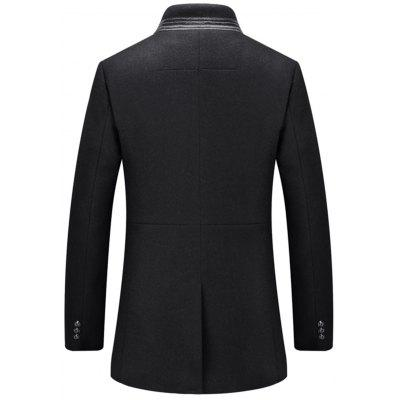 Single-Breasted Stand Collar Wool Blend CoatMens Jackets &amp; Coats<br>Single-Breasted Stand Collar Wool Blend Coat<br><br>Clothes Type: Wool &amp; Blends<br>Collar: Stand Collar<br>Material: Polyester, Wool<br>Package Contents: 1 x Coat<br>Season: Fall, Winter<br>Shirt Length: Regular<br>Sleeve Length: Long Sleeves<br>Style: Casual<br>Weight: 1.1300kg