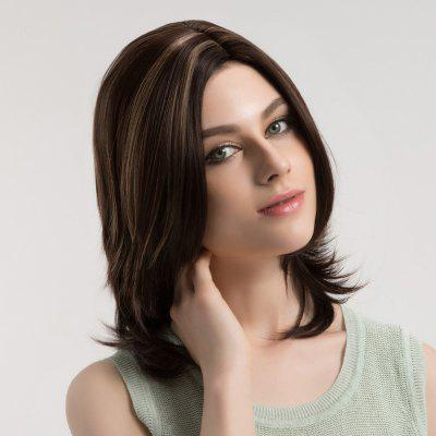 Medium Side Parting Colormix Layered Straight Synthetic WigSynthetic Wigs<br>Medium Side Parting Colormix Layered Straight Synthetic Wig<br><br>Bang Type: Side<br>Cap Construction: Capless (Machine-Made)<br>Length: Medium<br>Length Size(CM): 41<br>Material: Synthetic Hair<br>Package Contents: 1 x Wig<br>Style: Straight<br>Type: Full Wigs<br>Weight: 0.1800kg