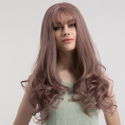 Long See-through Bang Curly Synthetic WigSynthetic Wigs<br>Long See-through Bang Curly Synthetic Wig<br><br>Bang Type: See-through Bang<br>Cap Construction: Capless (Machine-Made)<br>Length: Long<br>Length Size(CM): 62<br>Material: Synthetic Hair<br>Package Contents: 1 x Wig<br>Style: Curly<br>Type: Full Wigs<br>Weight: 0.2800kg