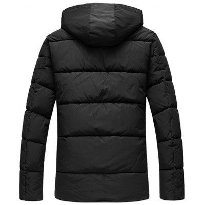 Zip Up Closure Winter Padded JacketMens Jackets &amp; Coats<br>Zip Up Closure Winter Padded Jacket<br><br>Closure Type: Zipper<br>Clothes Type: Padded<br>Collar: Hooded<br>Material: Cotton, Polyester<br>Occasion: Casual<br>Package Contents: 1 x Jacket<br>Season: Winter<br>Shirt Length: Regular<br>Sleeve Length: Half Sleeves<br>Style: Casual<br>Weight: 1.1700kg