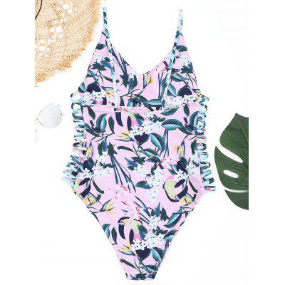 Plant Print Strappy One Piece SwimsuitLingerie &amp; Shapewear<br>Plant Print Strappy One Piece Swimsuit<br><br>Bra Style: Padded<br>Elasticity: Elastic<br>Embellishment: Strappy<br>Gender: For Women<br>Material: Nylon, Spandex<br>Neckline: Spaghetti Straps<br>Package Contents: 1 x Swimsuit<br>Pattern Type: Plant<br>Style: Sexy<br>Support Type: Wire Free<br>Swimwear Type: One Piece<br>Waist: Natural<br>Weight: 0.2400kg