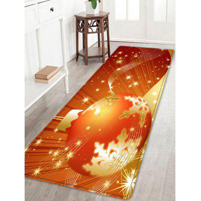 Buy ORANGE Christmas Ball Pattern Water Absorption Area Rug for $14.46 in GearBest store