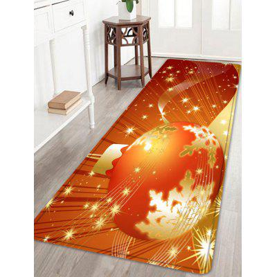 Buy ORANGE Christmas Ball Pattern Water Absorption Area Rug for $29.42 in GearBest store