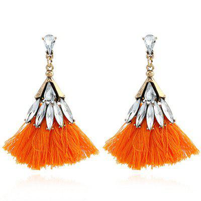 Faux Jewelry Tassel Drop Earrings