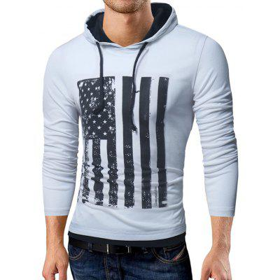 Hooded Distressed American Flag Print T-shirtMens Long Sleeves Tees<br>Hooded Distressed American Flag Print T-shirt<br><br>Collar: Hooded<br>Material: Cotton, Polyester<br>Package Contents: 1 x T-shirt<br>Pattern Type: Flag, Striped, Star<br>Season: Fall, Winter<br>Sleeve Length: Full<br>Style: Streetwear, Fashion, Casual<br>Weight: 0.3500kg