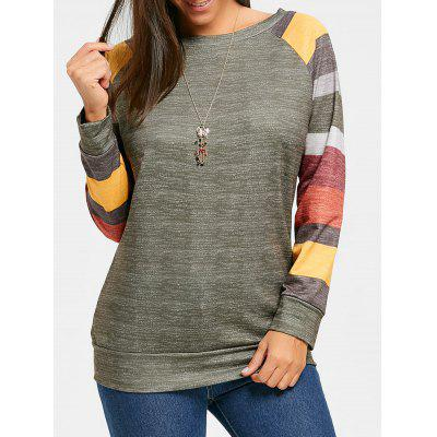 Color Block Raglan Long Sleeve Top
