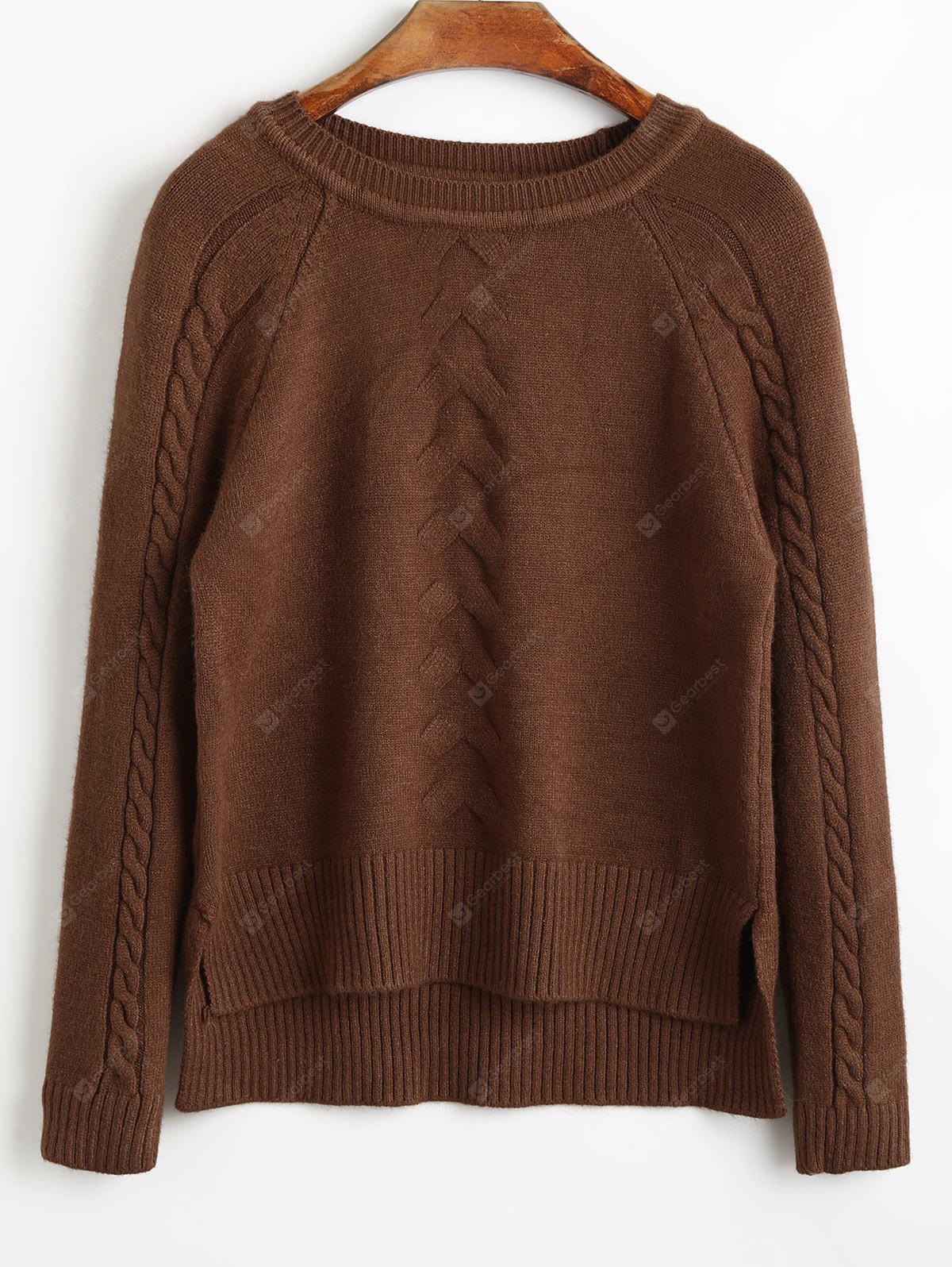Side Slit High Low Sweater