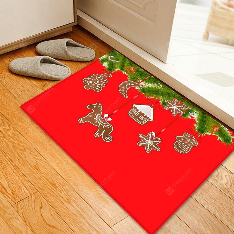 Christmas Pine Biscuit Pattern Water Absorption Area Rug