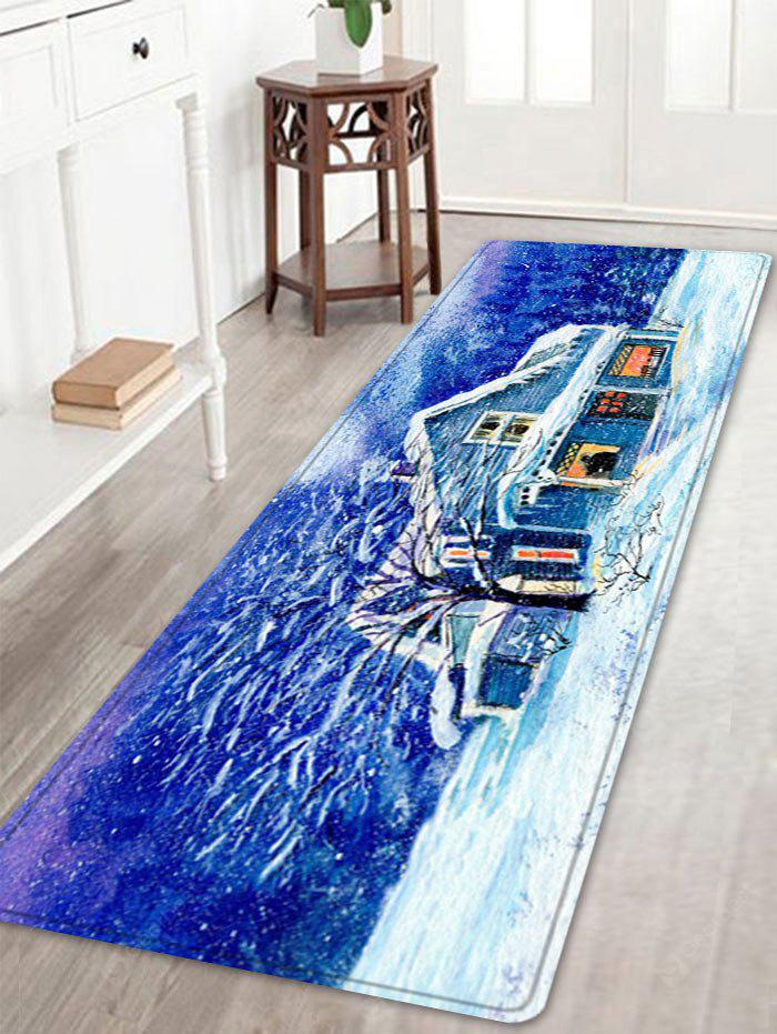 Forest House Pattern Water Absorbing Area Rug