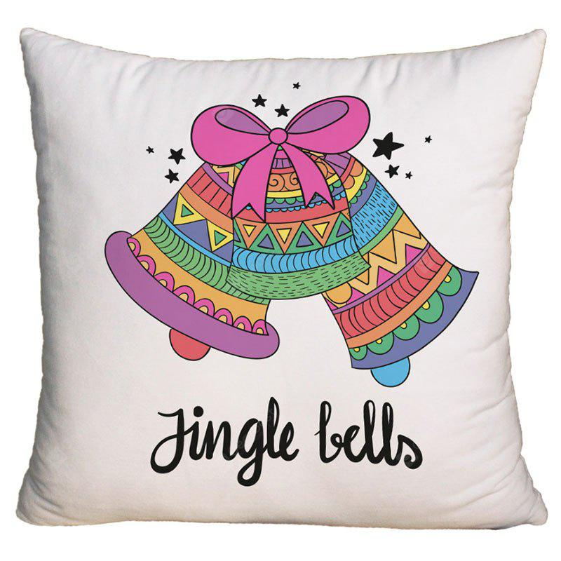 Taie d'oreiller décorative de Noël Jingle Bells Print