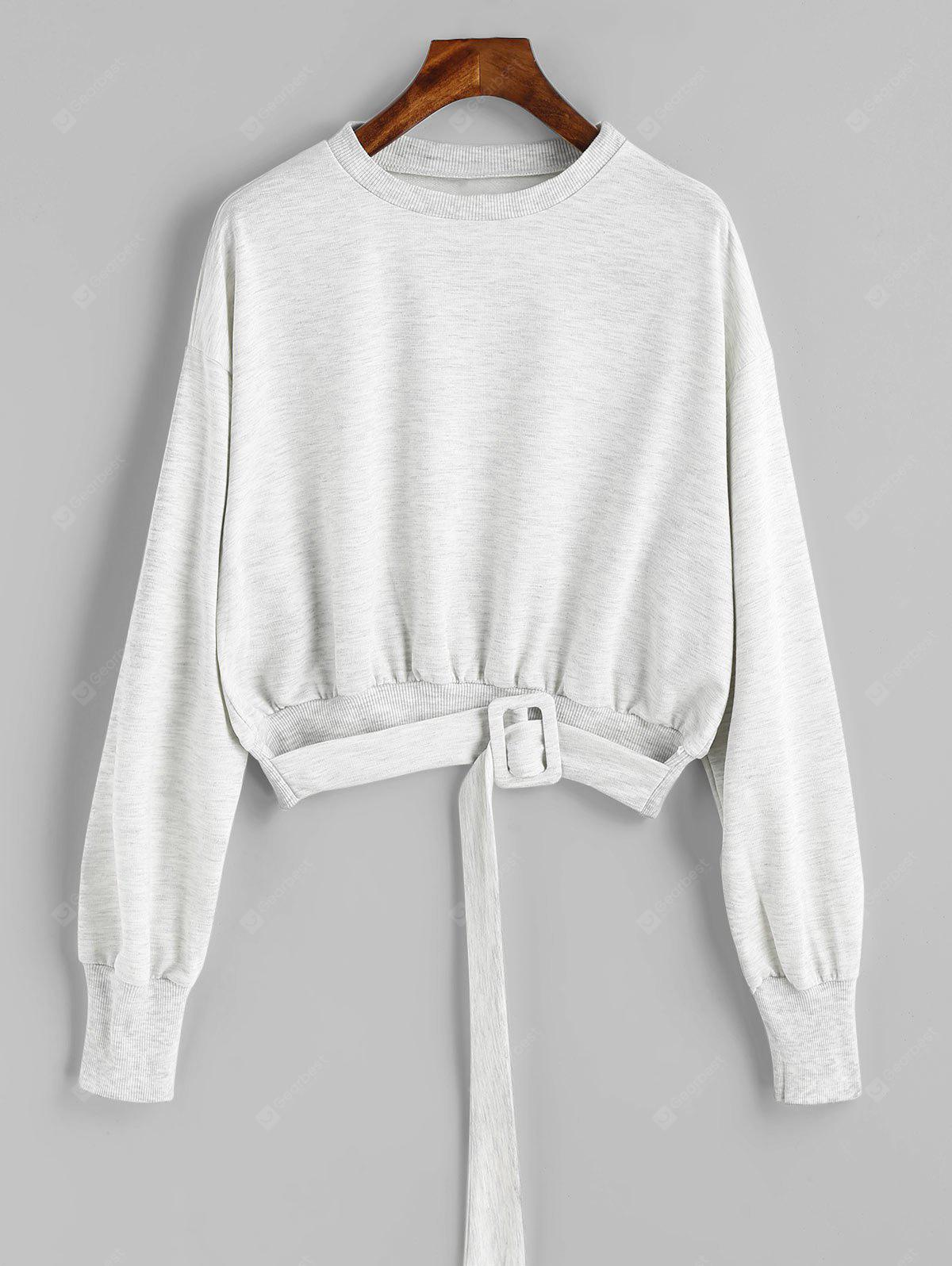 Sweat-shirt Lâche Chiné Ceinturé