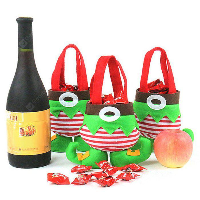 3 Pieces Christmas Elf Body Candy Tote Gift Bags