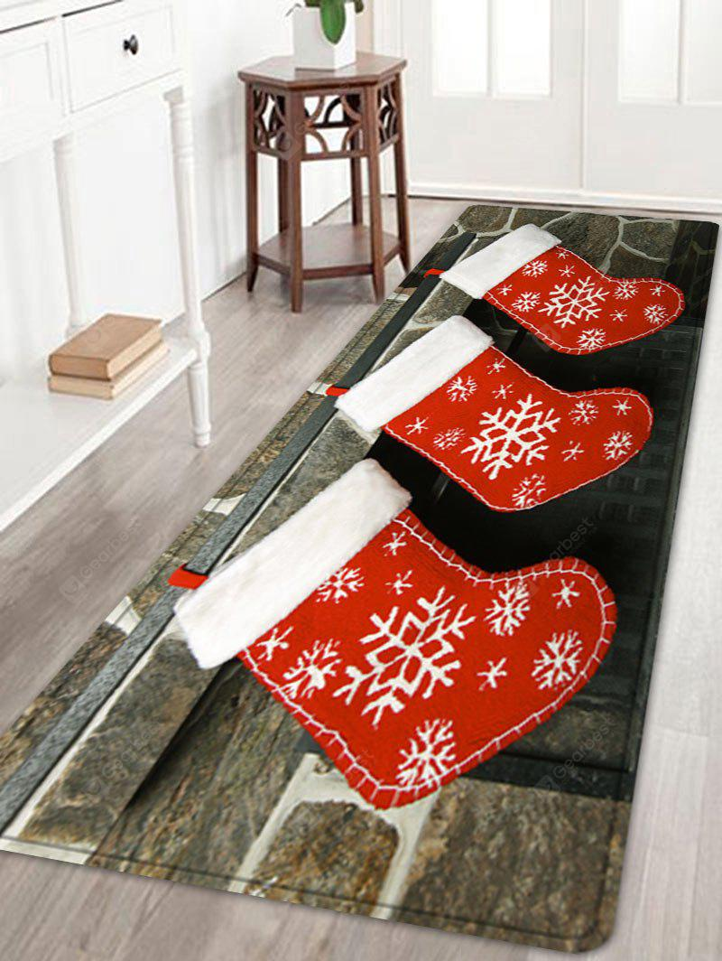 Christmas Socks Pattern Water Absorption Area Rug