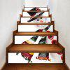 Christmas Snowman Pattern Decorative Stair Decals - COLORMIX