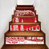 Christmas Forest Village Pattern Decorative Stair Decals - RED