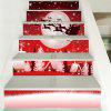 Christmas Night Village Pattern Decorative Stair Decals - RED